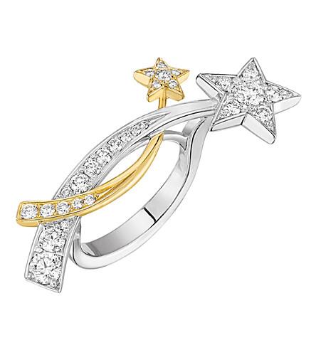 CHANEL Comète 18K 白黄金钻石戒指