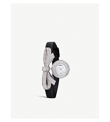 CHANEL Ruban 18ct white gold and diamond jewellery watch