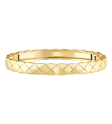 CHANEL Coco Crush 18K yellow gold bangle