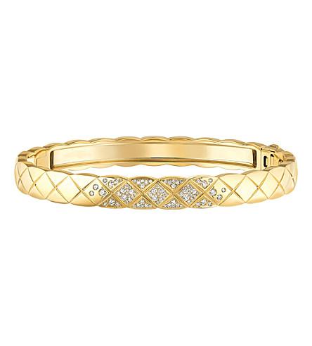 CHANEL Coco Crush 18K yellow gold and diamond bangle
