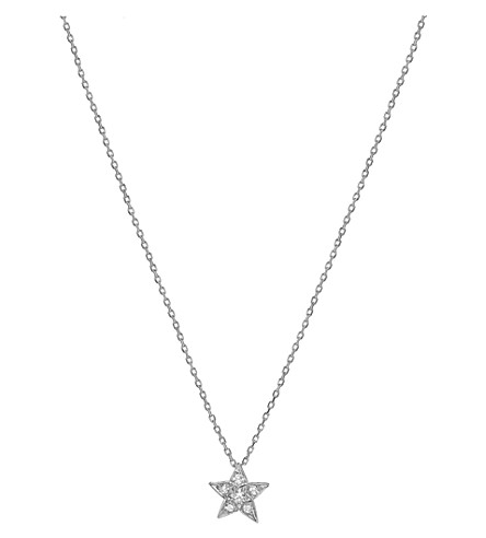 CHANEL Comète 18K white gold and diamond pendant. Small version