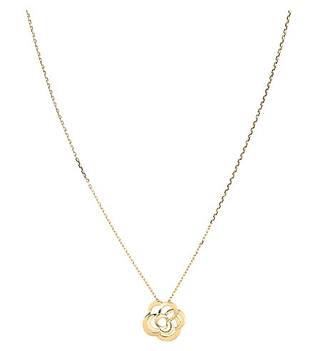 CHANEL Camélia 18K yellow gold pendant