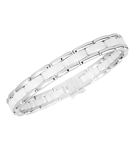 CHANEL Ultra 18K white gold and white ceramic bracelet