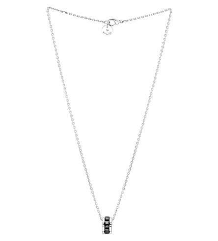 CHANEL Ultra 18K white gold and black ceramic pendant