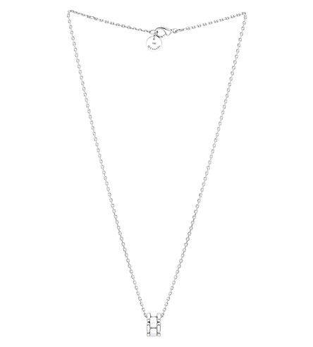 CHANEL Ultra 18K white gold and white ceramic pendant
