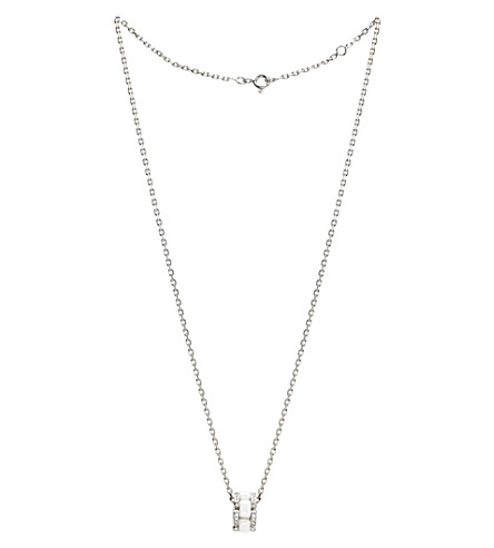 CHANEL Ultra 18K white gold, white ceramic and diamond pendant