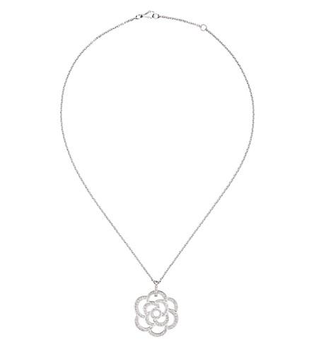 CHANEL Camélia 18K white gold and diamond necklace