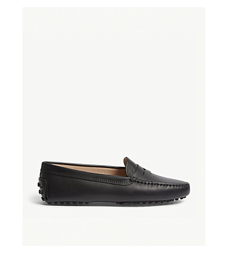 TODSMocassino 皮革休闲鞋 (黑色