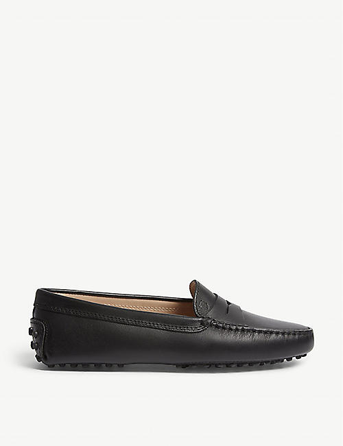 New Trendy Tod's Brushed Leather Loafers With Fringe And Tassel Details Black For Men Online Sale