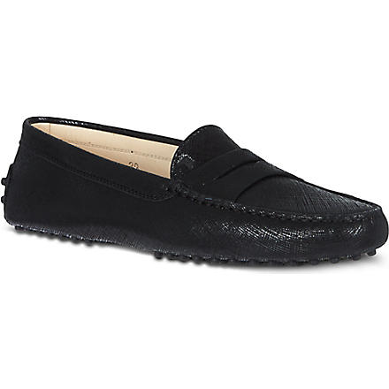 TODS Gommino moccasin leather driving shoes (Blk/other