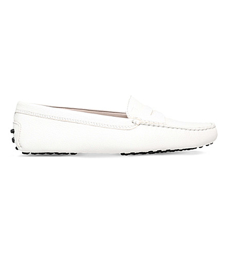 TODS Mocassino leather driving shoes (White/oth