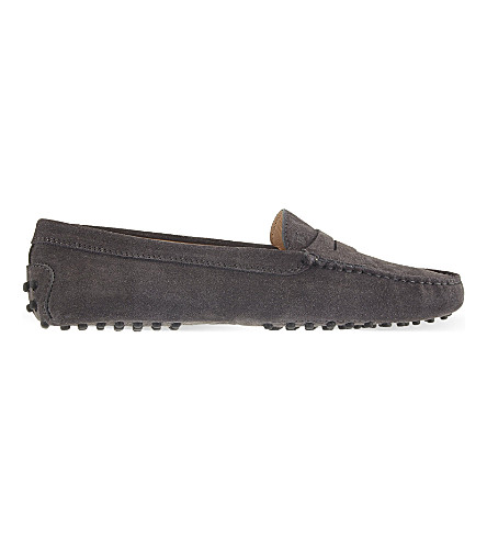 TODS Mocassino suede loafers (Grey+mid
