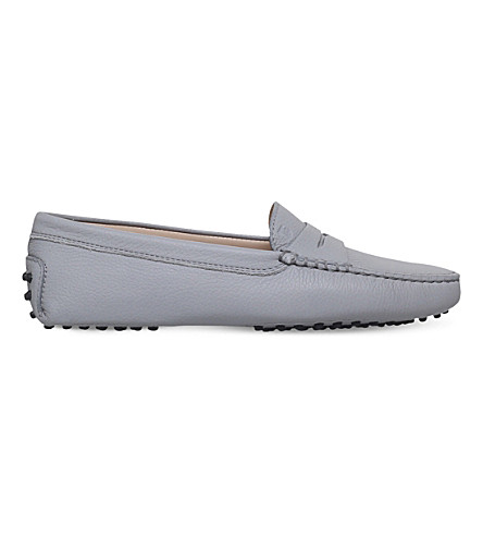 TODS Mocassino leather loafers (Grey/light