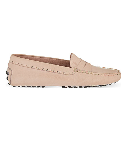 TODS Mocassino leather loafers (Nude