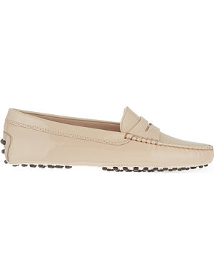 TODS Mocassino patent leather loafers