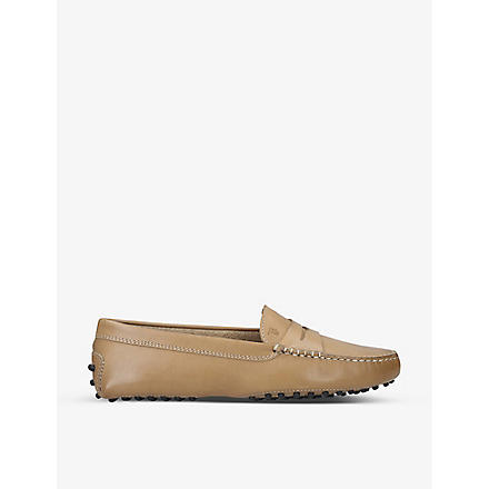 TODS Gommino moccasin leather driving shoes (Taupe