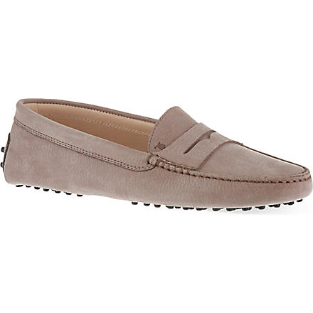 TODS Gommino driving shoes in leather (Taupe