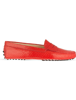TODS Gommino driving shoes in scaled leather