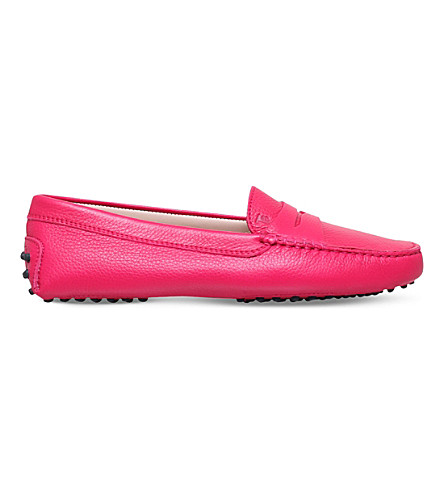 TODS Mocassino suede moccasins (Fushia