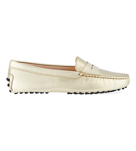 TODS Mocassino loafers in leather (Gold