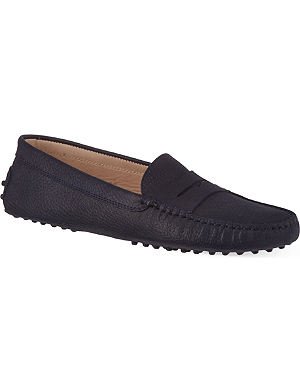 TODS Mocassino pebbled leather loafers