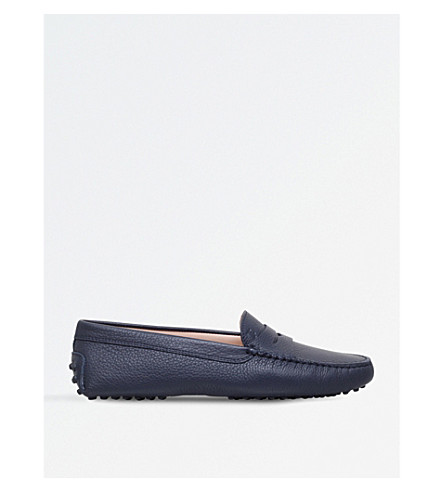 TODS City Gommino leather loafers (Blue+other