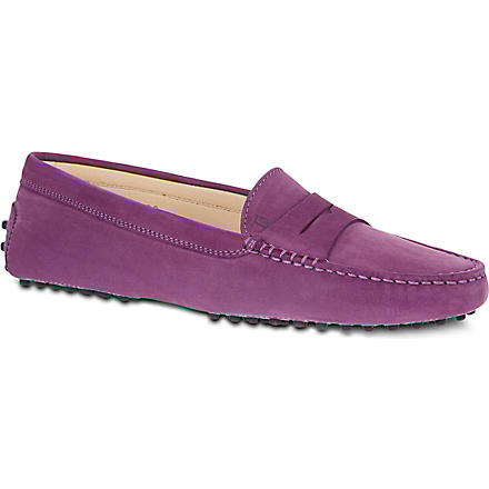 TODS Gommino Driving Shoes in Suede (Purple
