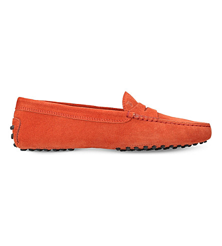 TODS Mocassino suede moccasins (Orange