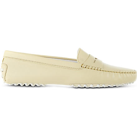 TODS Gommino Driving Shoes in Leather (Yellow