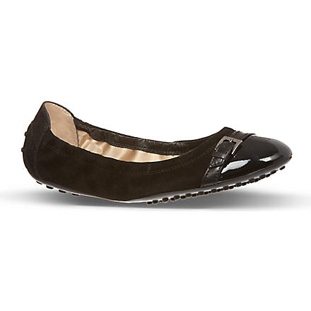 TODS Ball Fibbietta suede pumps (Black