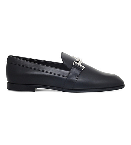 TODS Cuoio Dopia T leather slippers