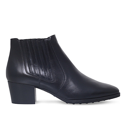 TODS Gomma Xc Tronch leather ankle boots (Black