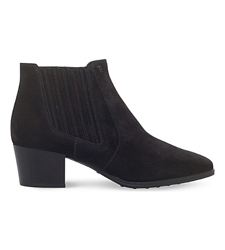 TODS Gomma suede ankle boots (Black