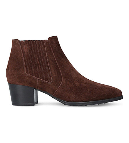TODS Gomma suede ankle boots (Wine