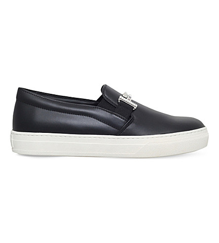 TODS Slip-on leather trainers (Black