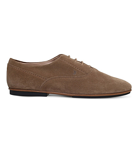 TODS Gomma suede derby shoes