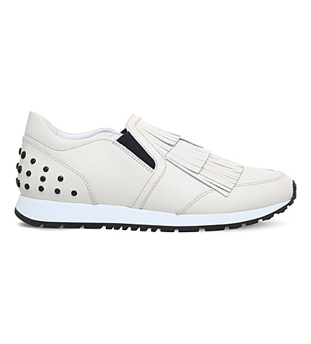 TODS Sportivo fringe leather trainers (White