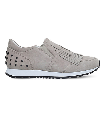 TODS Sportivo fringe leather trainers