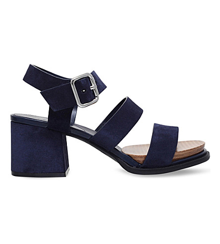TODS Strappy suede sandals (Navy