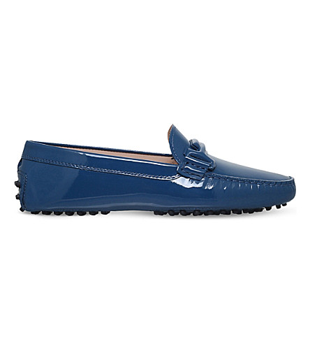 TODS Gommino patent leather driving shoes