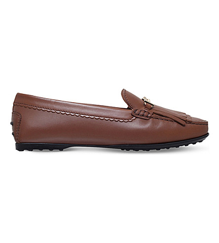 TODS Gomma leather loafers