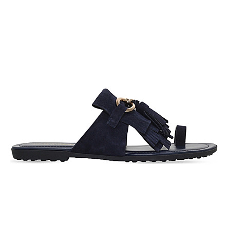TODS Fringed suede sandals