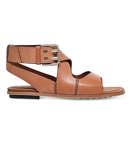 TODS Ankle-strap leather sandals