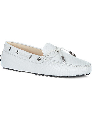 TODS Gommino Heaven Driving Shoes in Python Leather