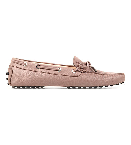 TODS Gommino Heaven Driving Shoes in Leather (Taupe
