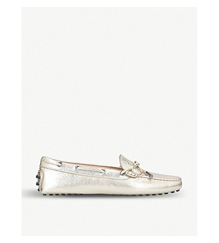 TODS Heaven leather moccasins (Gold+comb