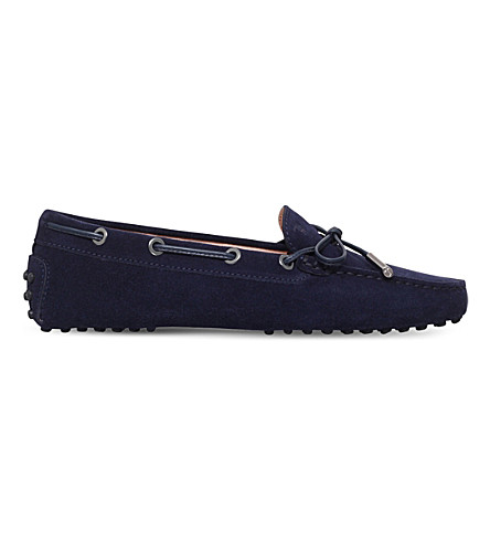 TODS Gommino heaven suede loafers (Navy