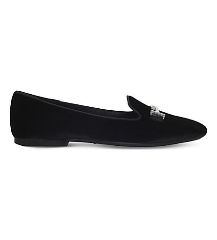 TODS Velvet ballerina loafers (Black