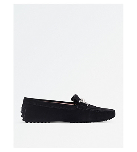 TODS Fringed suede loafers (Black