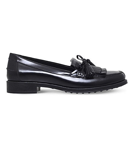 TODS Gomma leather loafers (Black